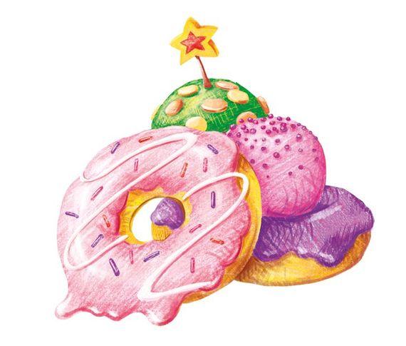 Как нарисовать волшебные пончики