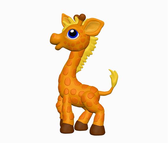 Как слепить жирафа