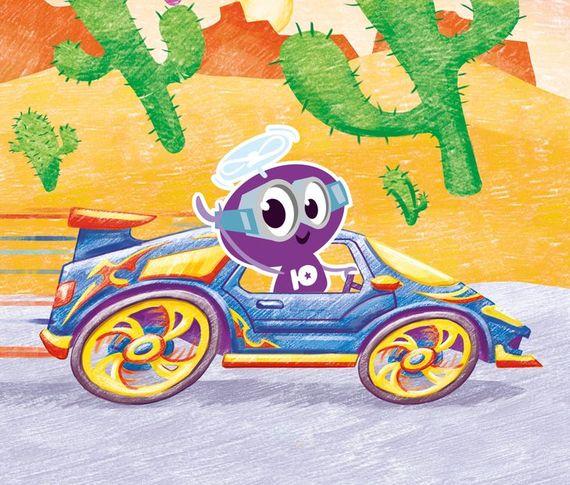 Как нарисовать синий спорткар