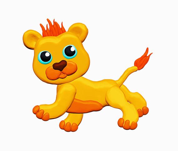 Как слепить льва